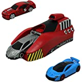 PLUSPOINT Rapid Launcher Play Set Toy with 3 Die Cast Metal Stunt Car and Stoppers for Kids