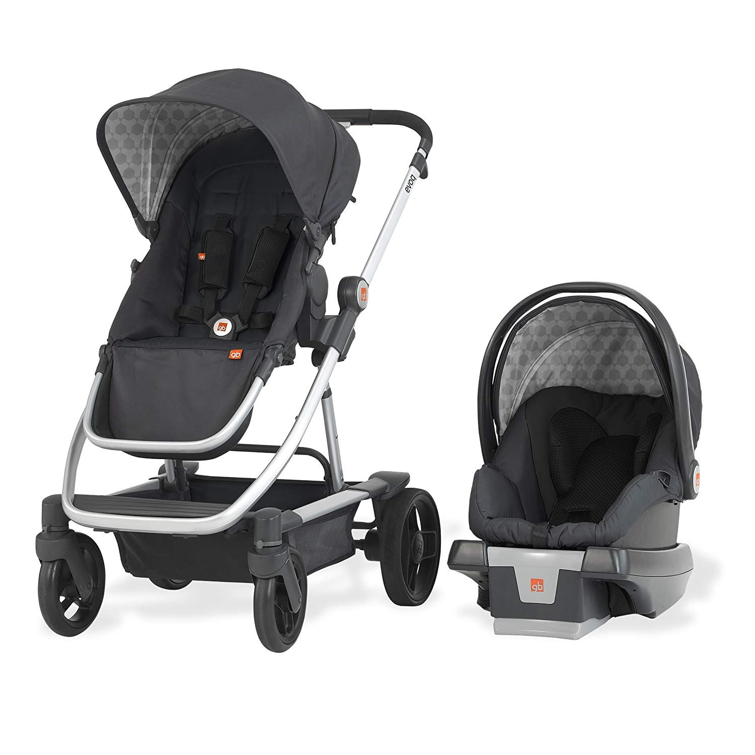 gb Evoq 4-in-1 Travel System, Charcoal