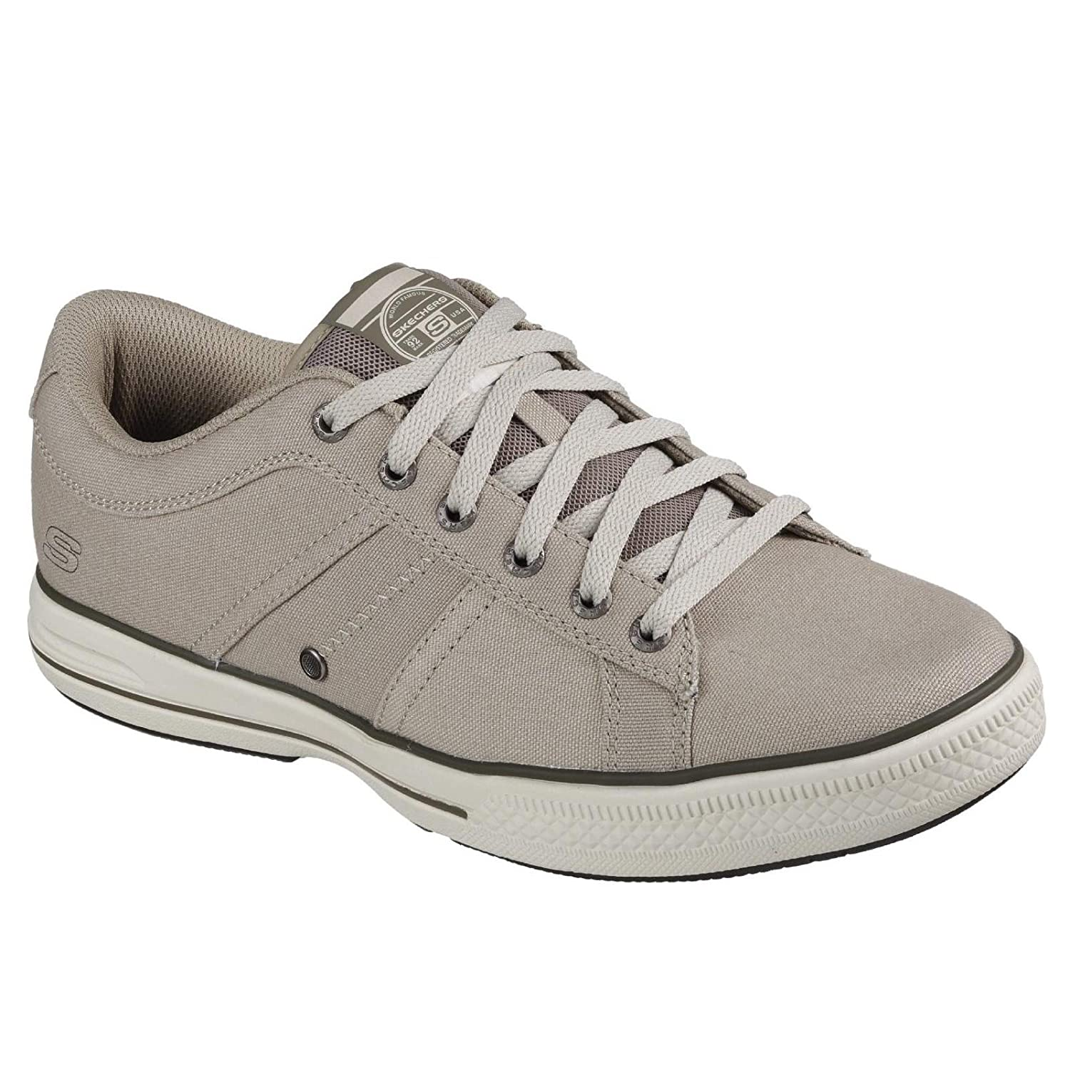 Skechers Mens Arcade Fulrow Lace Up Canvas Casual Pumps Taupe UK12