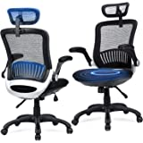 Ergonomic Office Chair - Ergousit Mesh Desk Chair with Adjustable Backrest and Flip up Armrest, Rolling Office Chair…