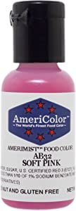 AmeriColor AmeriMist Soft Pink Airbrush Food Color, .65 oz