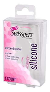 Swisspers Premium Silicone Make Up Blending Sponge, Latex Free, For Flawless Blending of Foundation and Liquid Cosmetics, 1-Count
