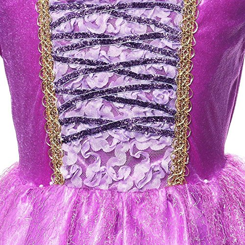 SweetNicole Princess Rapunzel Purple Princess Party Costume Dress with Accessories (7-8) by SweetNicole (Image #4)