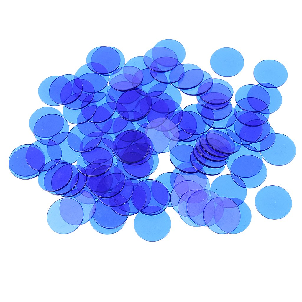 Sharplace 300pcs Bingo Chips Set, Transparent - Blau