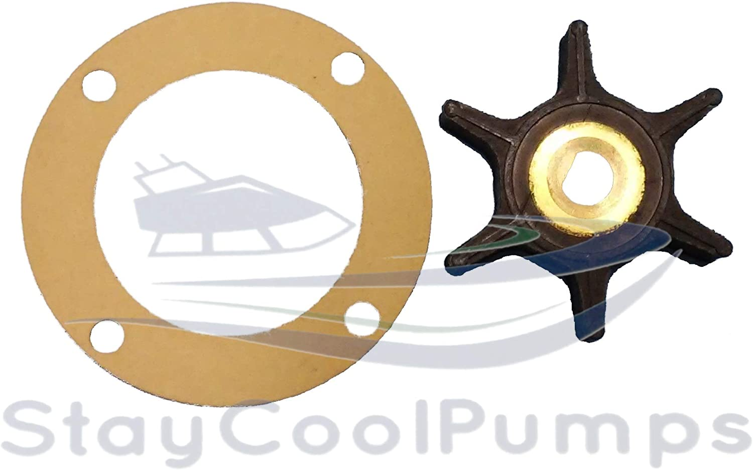 StayCoolPumps SCP Impeller Kit Fits Onan 131-0386 Pump 131-0257 170-3172 4 Hole Gasket MCCK 4.0 KW