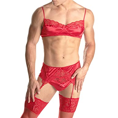 f00465ba303 HIMEALAVO Men s Smooth Satin and lace
