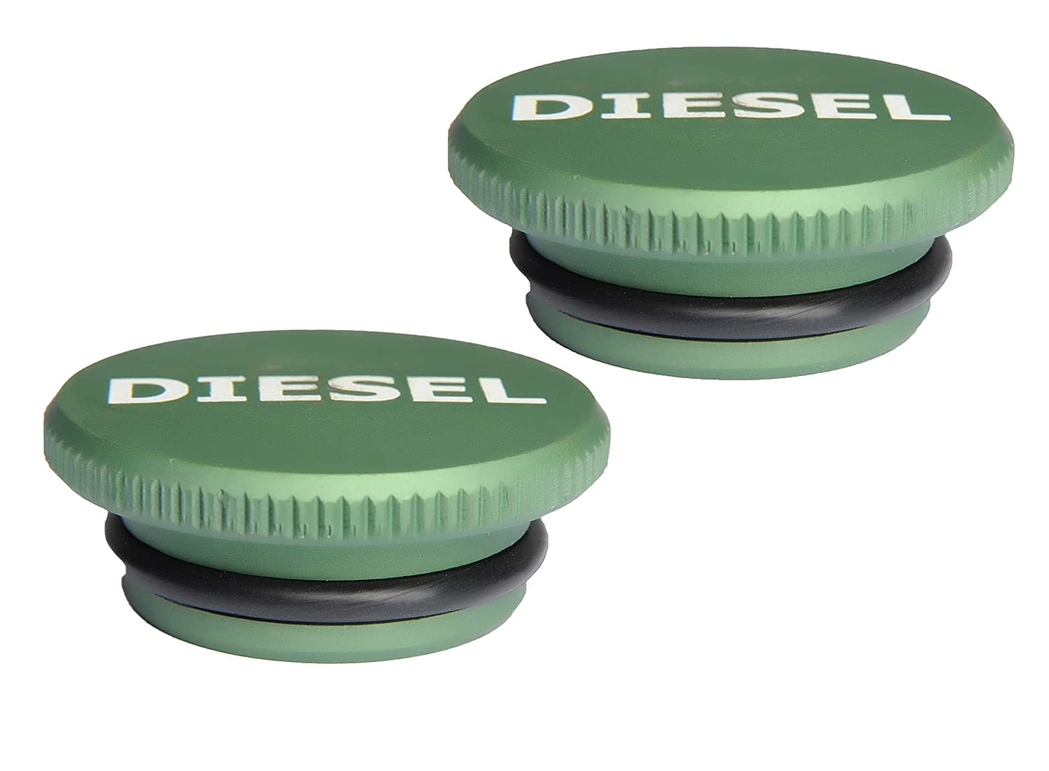 2 Pack Magnetic Diesel Fuel Cap Accessory for Dodge RAM Truck 1500 2500 3500 Tulga Fifth Wheel Co
