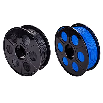 2 Pack Impresora 3d printer PLA Filamento 1,75 mm 1 kg con bobina ...