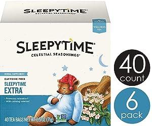 Celestial Seasonings Wellness Tea, Sleepytime Extra, 40 Count Box (Pack of 6)