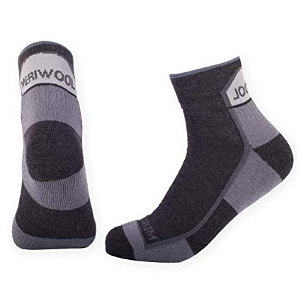 b8ce696284 MERIWOOL Merino Wool Hiking Socks – 2 Pairs ¾ Crew Wool Socks - Cushioned  Bulk Reduction