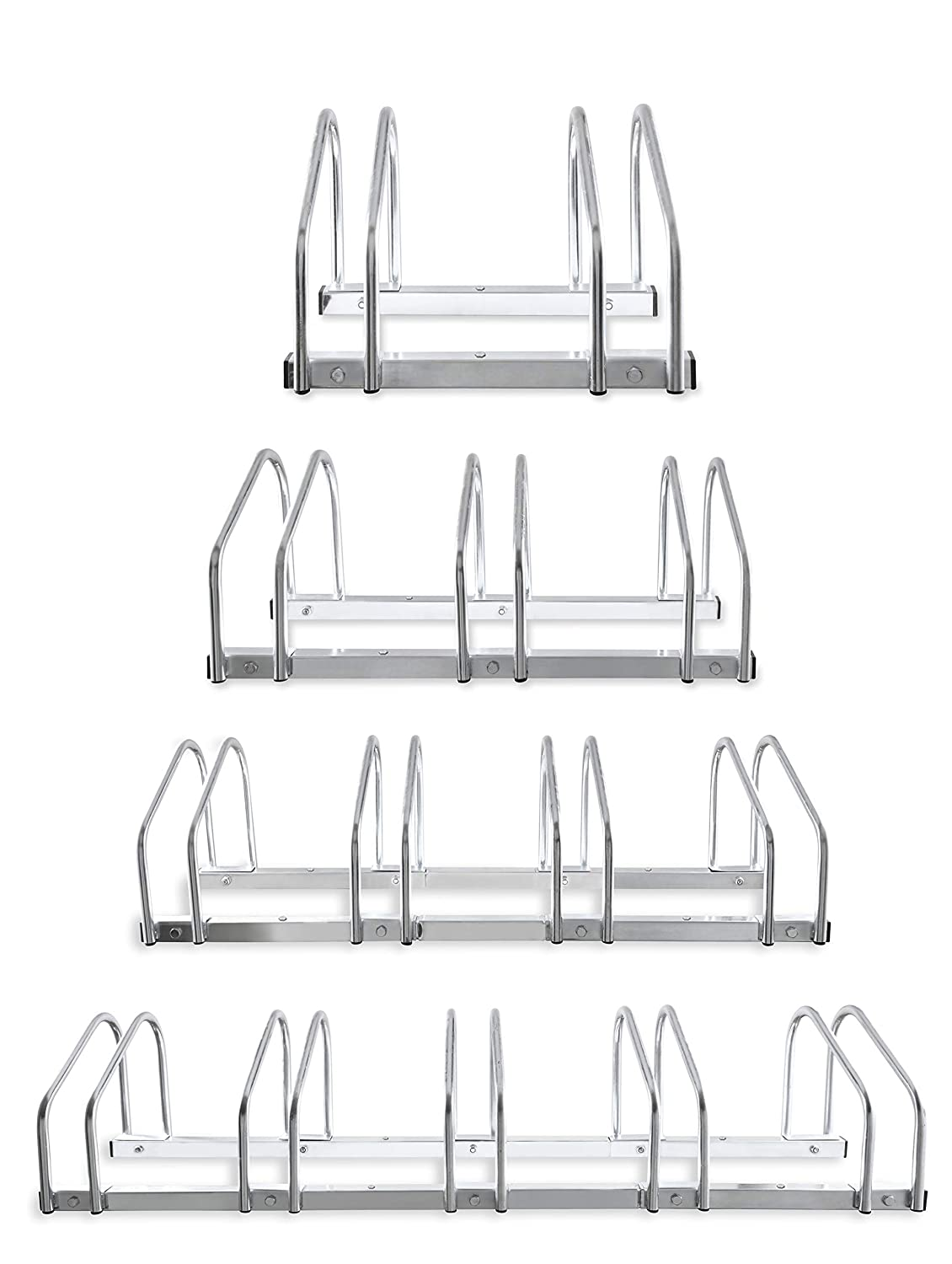 Hillington 2, 3, 4, 5 Bike Floor Or Wall Mount Bicycle/Galvanised Cycle Rack Storage Locking Stand Great For Garage, Garden Or Shed And For Security