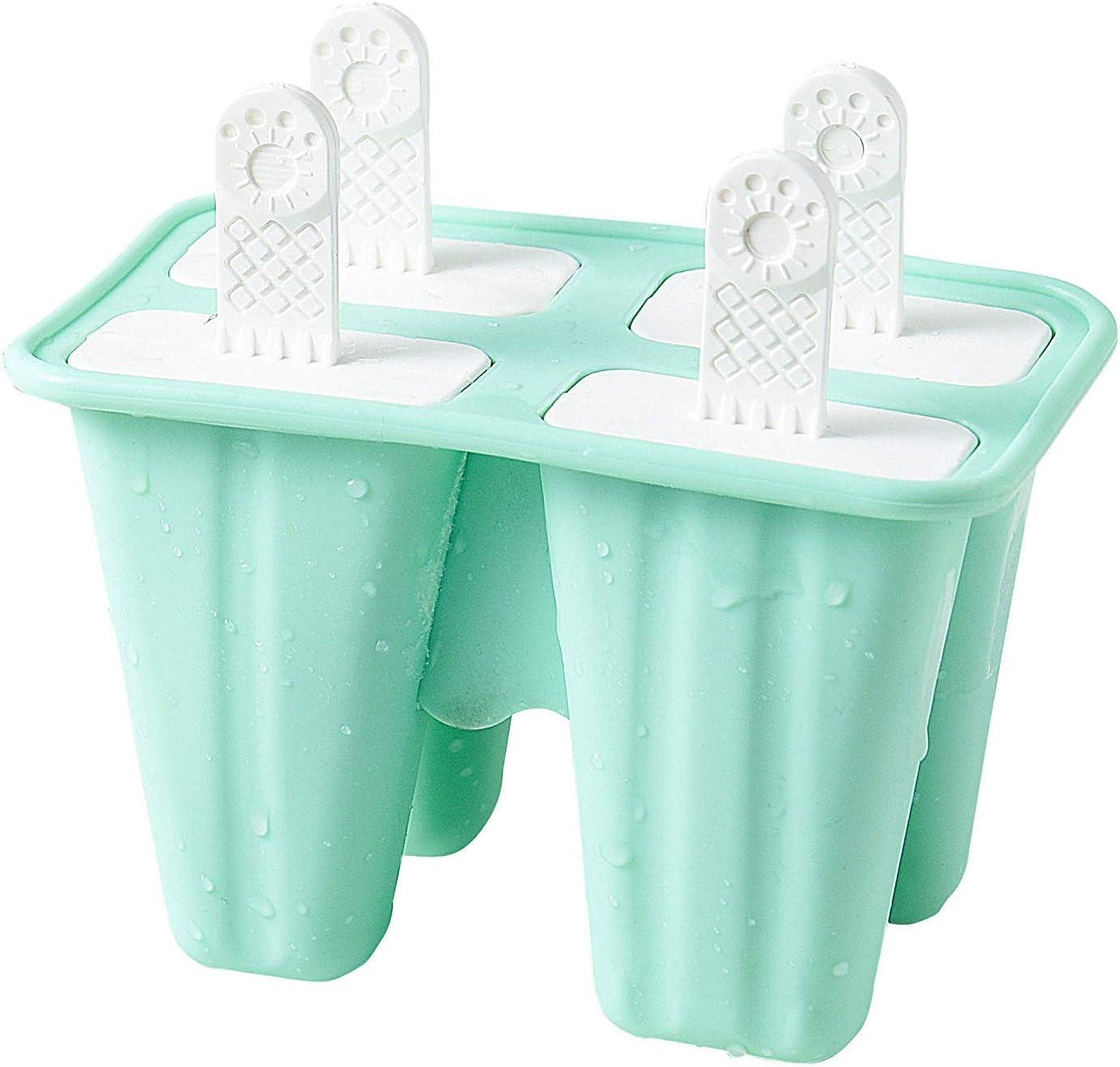 senza BPA per ghiaccioli IINDES in silicone Stampi per ghiaccioli per bambini con pennello e imbuto pieghevole in silicone