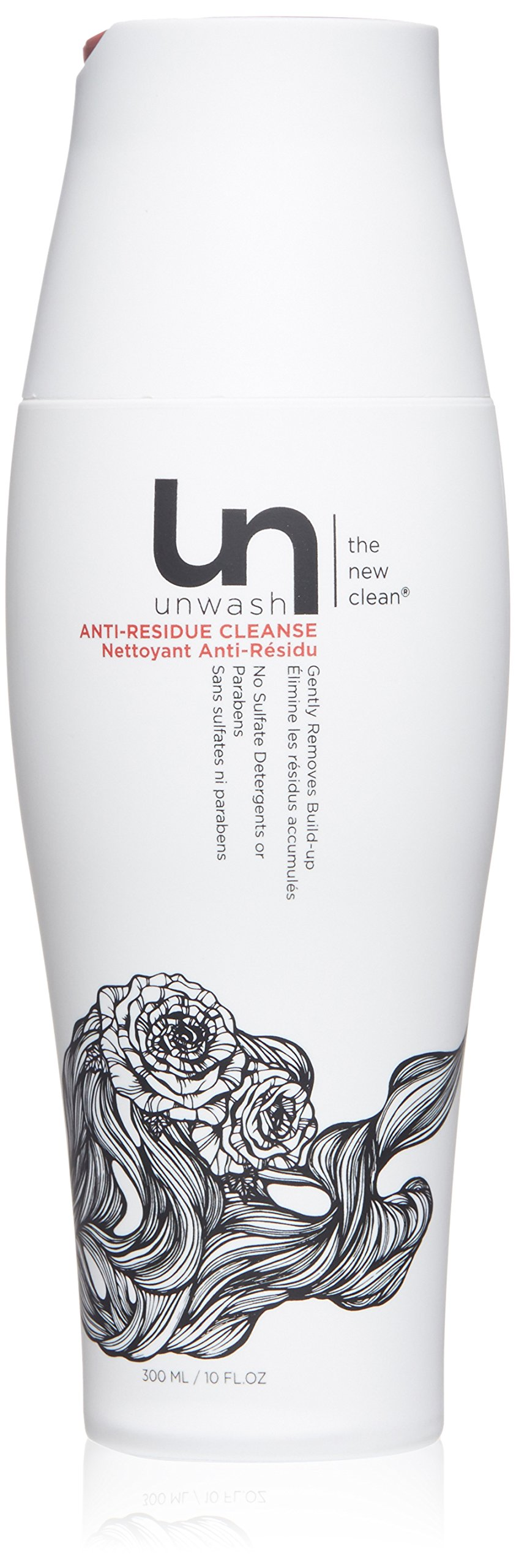 Unwash Anti Residue Hair Cleanse: Gentle pH Balanced Daily Hair Cleansing Conditioning Wash, 10 oz