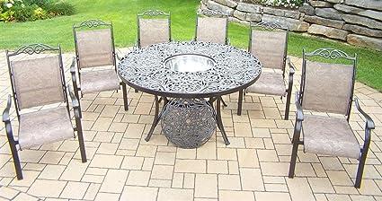 Excellent Amazon Com Oakland Living Cascade 8 Piece Set With 60 Inch Dailytribune Chair Design For Home Dailytribuneorg