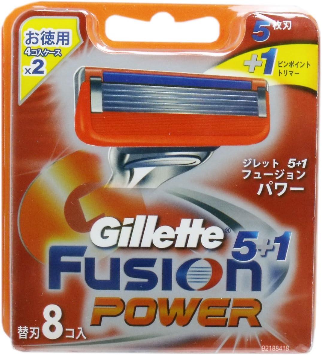 【P&G】ジレット フュージョン 5+1 パワー専用替刃 8個入 ×10個セット