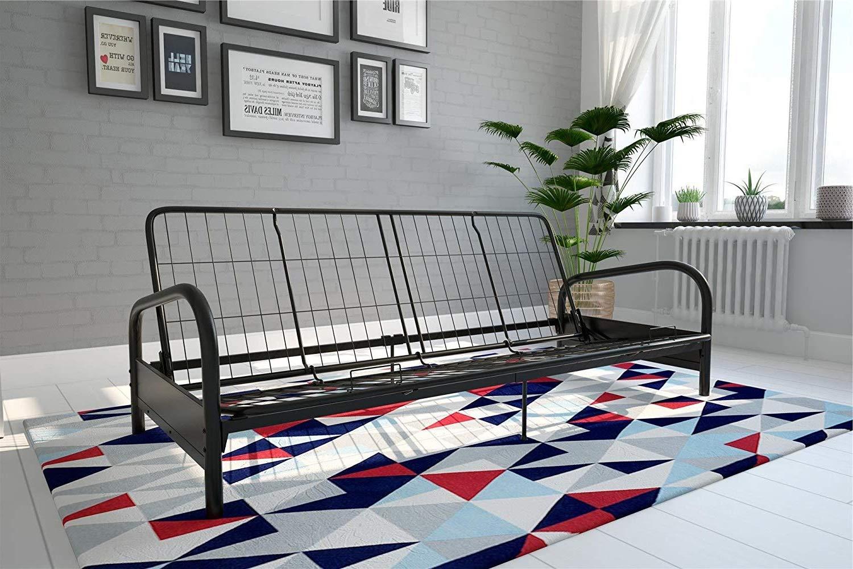 DK Furniture Vermont Metal Futon Frame, Classic Design, Full Sized - Black by DK Furniture