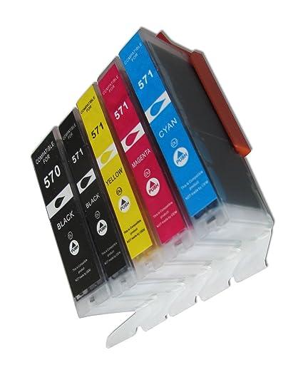ESMOnline 5 comp. XL Cartuchos de impresora para Canon Pixma ...