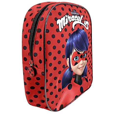 624e4e4c09 Miraculous Ladybug - Zainetto asilo bambina - Zaino a pois rosso e nero  bimba - Le