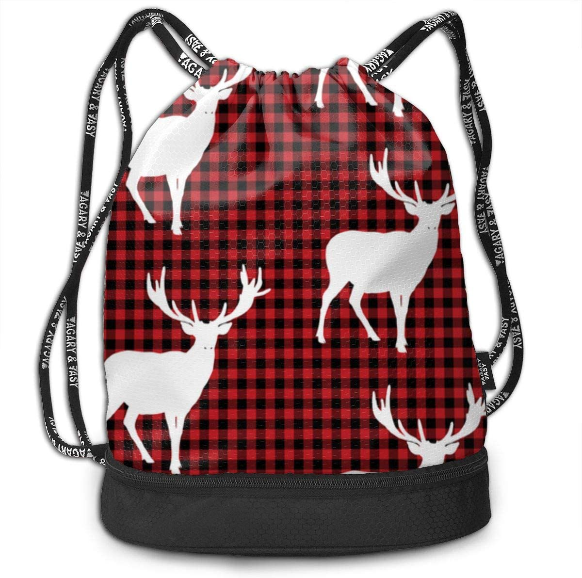 HUOPR5Q Dogs Drawstring Backpack Sport Gym Sack Shoulder Bulk Bag Dance Bag for School Travel
