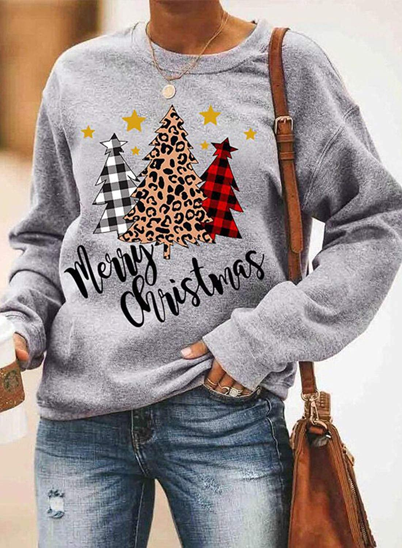 Christmas Sweatshirt For Women Christmas Graphic Sweatshirt Festive Christmas Sweatshirt Tree Farm Sweater Christmas Tree Sweatshirt