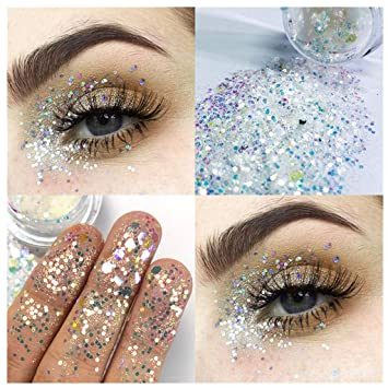 Beauty Essentials Glitter Sequins Free Glue Diamond Beads Laser Sequins Eyeshadow Powder Color Matte Eye Shadow Cosmetics Eye Shadow