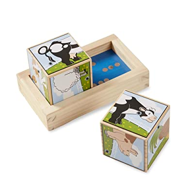 Melissa & Doug Farm Sound Blocks: Melissa & Doug: Toys & Games