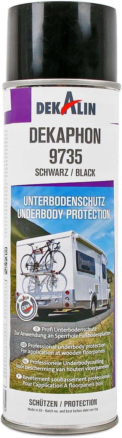 Dekaphon 9735 Unterbodenschutz Schwarz Für Speerholz Fußbodenplatten 1x 500 Ml Für Caravan Und Wohnmobil Auto