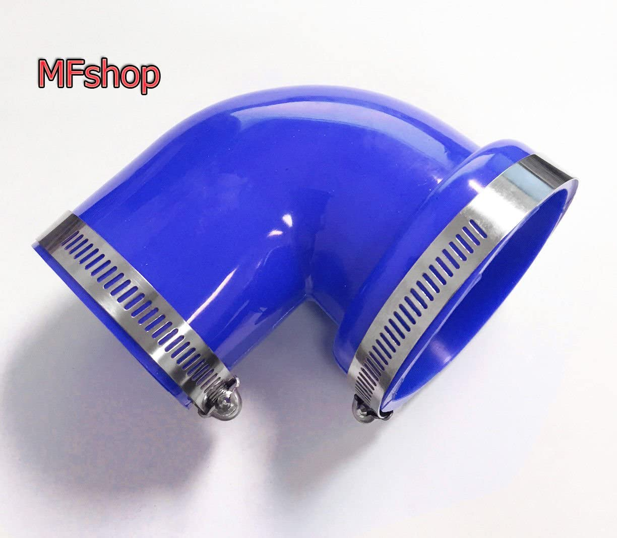 2.5-3 Blue Qi Motorsports 90 Degree Elbow PVC Rubber with 2 Clamps