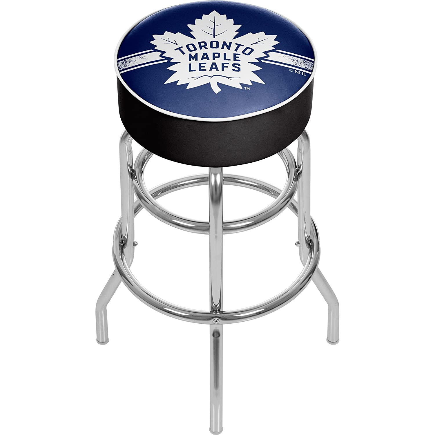 Trademark Gameroom NHL Chrome Bar Stool with Swivel-Toronto Maple Leafs NHL1000-TML2