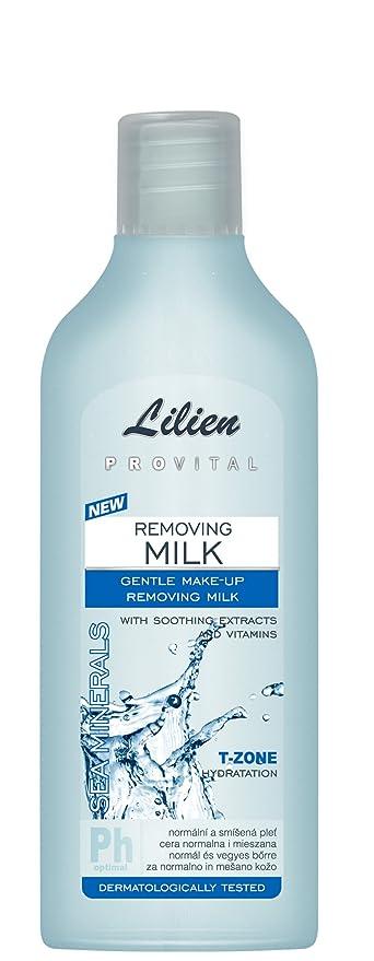 Lilien Provital mar minerales eliminación de leche con extractos de hierbas y vitaminas – suave maquillaje