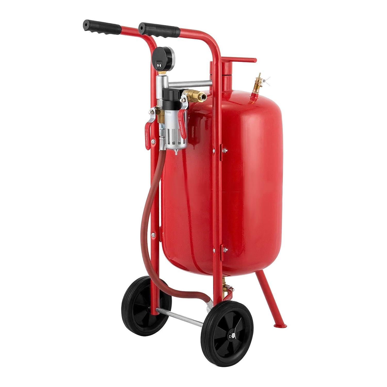 Mophorn Druckluft Sandstahler 40L Mobiles Sandstrahlger/ät 10 Gallon Sandstrahlen Pot