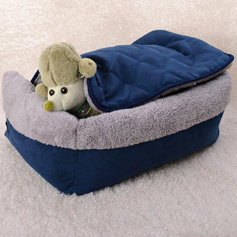 Cuccetta per animali domestici di Easylifer multifunzionale: divano trapuntato cuccia con cuscino lavabile e rimovibile letto con copertura per cani e gatti