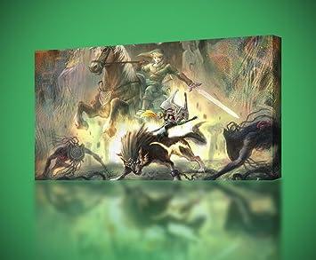 LINK Legend Of Zelda CANVAS PRINT Wall Art Decor Giclee4 Sizes CA156 Huge & Amazon.com: LINK Legend Of Zelda CANVAS PRINT Wall Art Decor Giclee4 ...