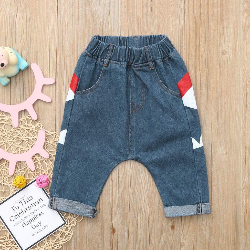 Pantalon B/éb/é Gar/çon Fille Sunenjoy Jeans Sarouel /Élastique Requin Imprim/é Harem Denim Pantalon Sport Jogging Running Casual Mode Mignon Harem Pants pour Enfant 0-6 Ans