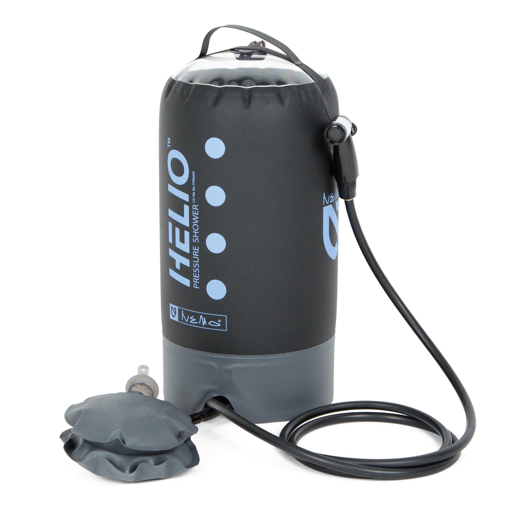 Nemo Equipment Helio Pressure Shower (Black/Periwinkle)