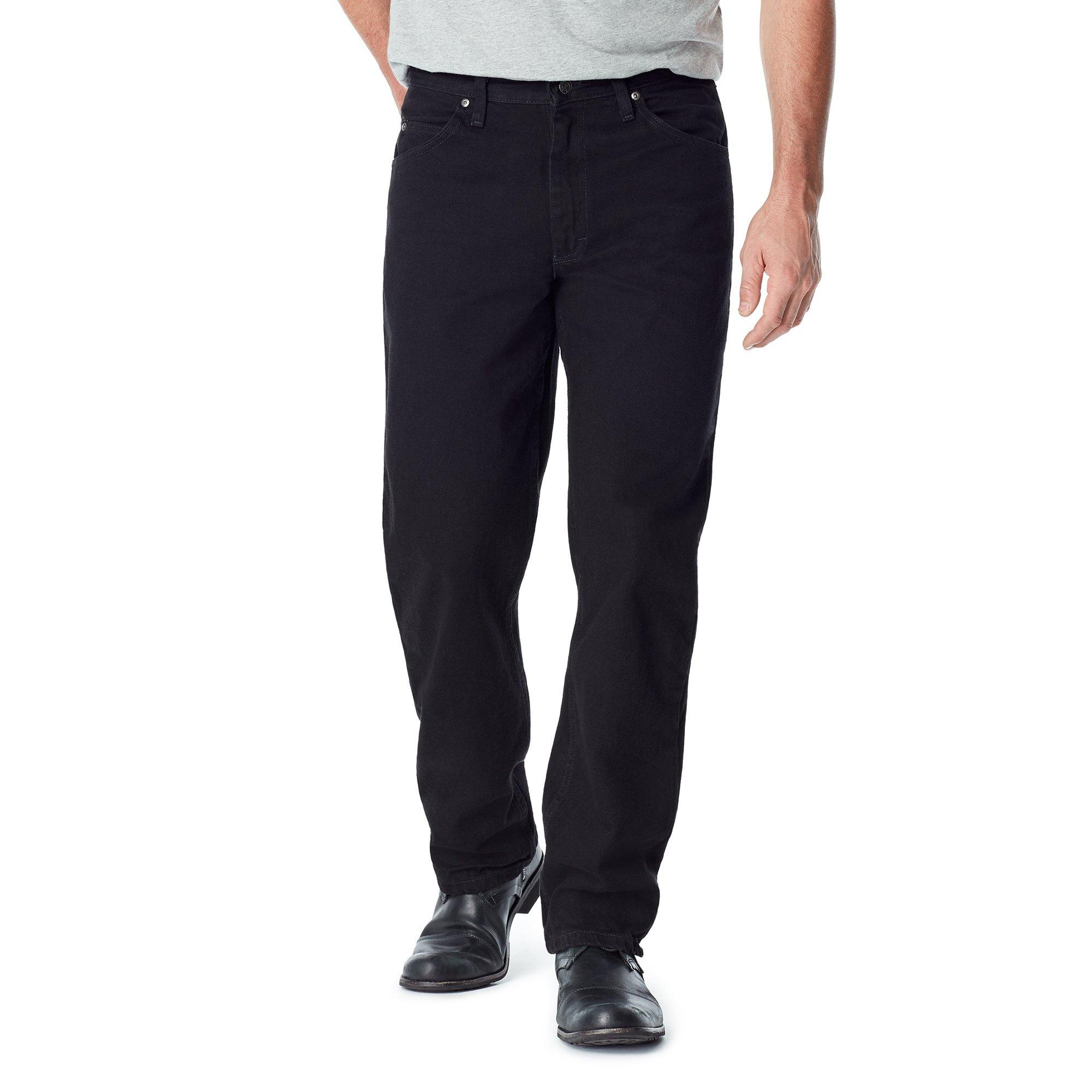 Wrangler Authentics Men's Classic Relaxed Fit Jean, Black, 38x32