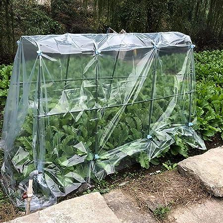 LIANGLIANG- Invernadero de Jardín Portátil Jardinería Casa De Flores Extra Grande Cálido Cobertizo Impermeable A Prueba De Viento Plástico Transparente Durable Resistencia Al Desgarro: Amazon.es: Hogar