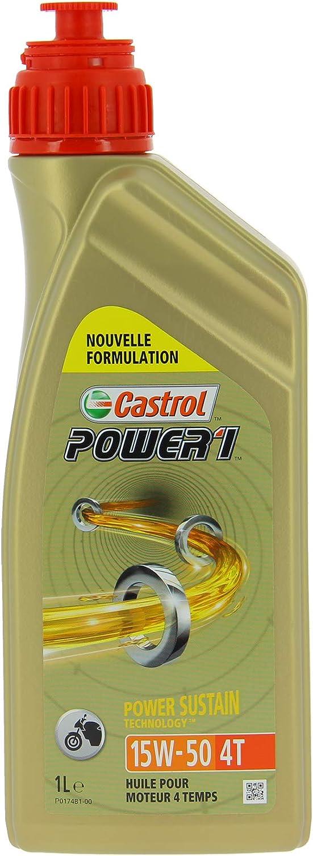 Castrol CAP15501 Power 1 4T 15W50 1L, Bidon de 1 L