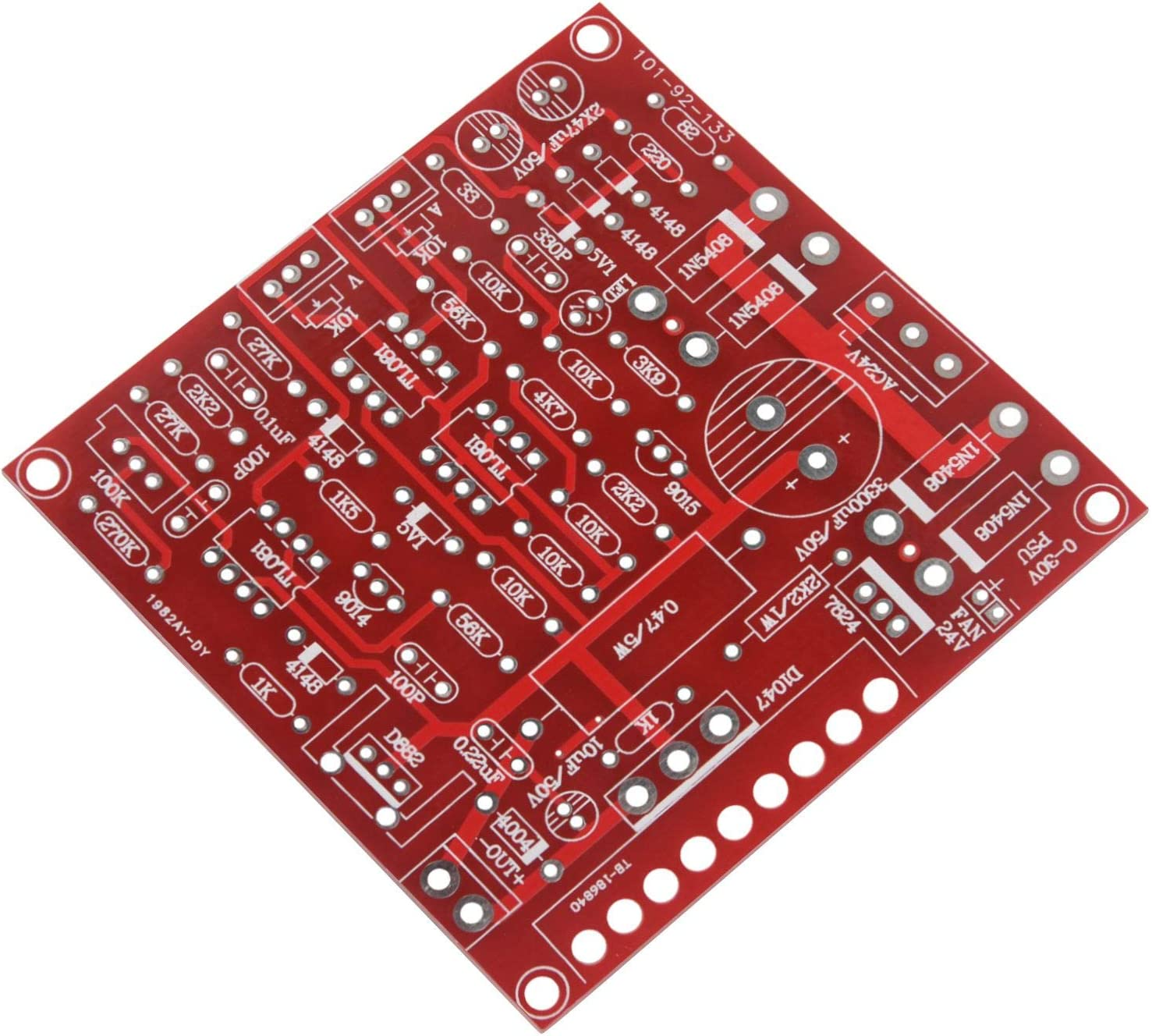 Red 0-30V 2mA-3A Continuously Adjustable DC Regulate Power Supply DIY Kit~GQ