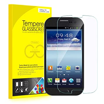 S3 Protector de Pantalla, JETech® Vidrio Templado Protector de Pantalla Empaquetado al por Menor para Samsung Galaxy S3
