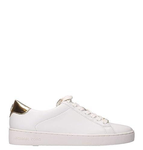 Michael By Michael Kors Mujer 43S5irfs2l751 Blanco Cuero Zapatillas: Amazon.es: Zapatos y complementos