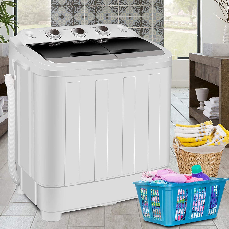 Amazon.com: HomGarden Portable Washer Compact Mini Twin Tub ...