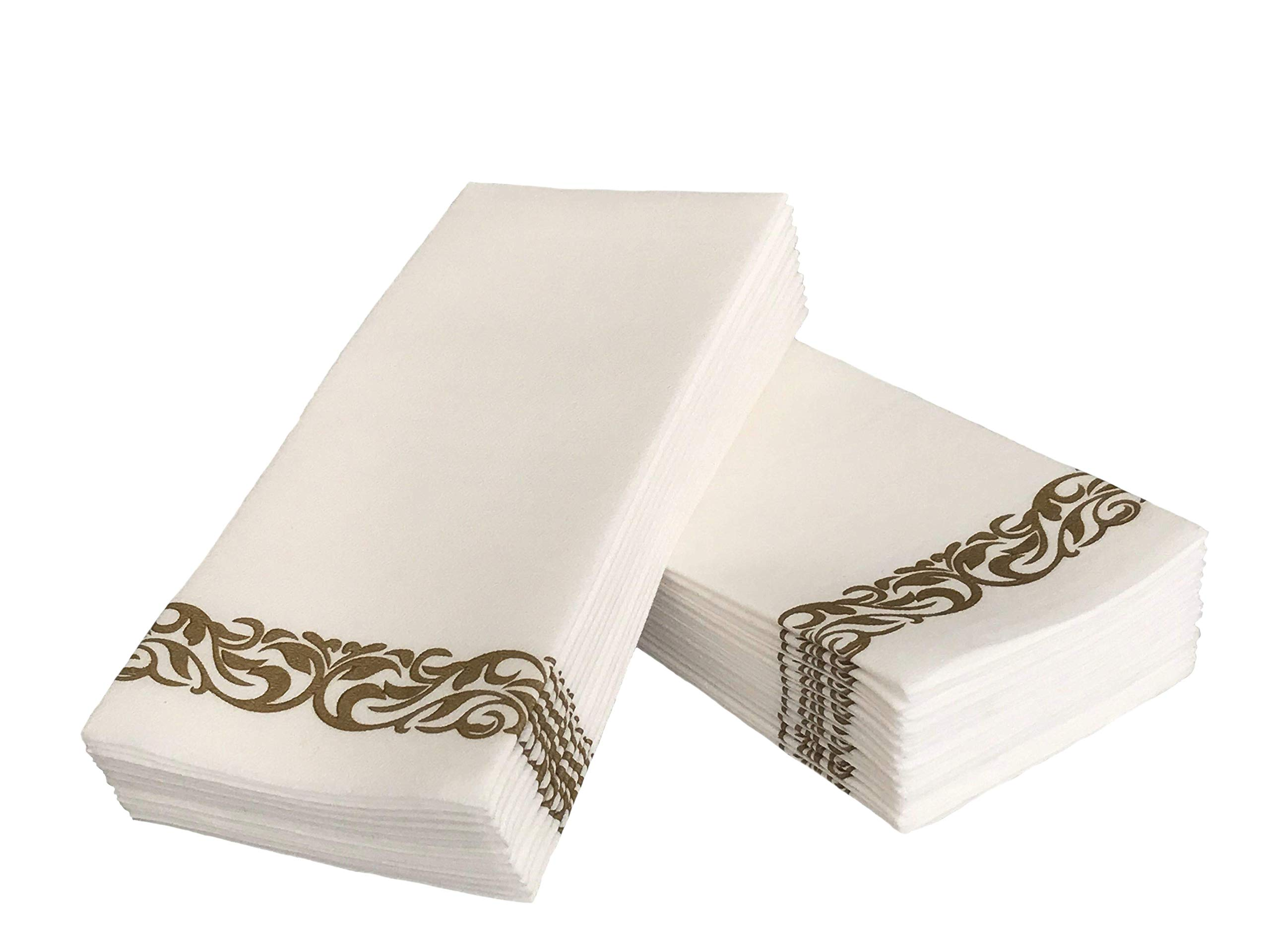 Haven Needs Disposable Decorative Table Napkins and Bathroom Hand Towels - Strong Yet Soft and Absorbent Cloth-Like Premium Paper Guest Towels - Elegant and Luxurious - for Parties Weddings Events