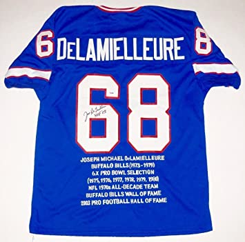 bede0773378 Joe DeLamielleure Autographed Jersey - Stat W Proof! - ! - PSA/DNA Certified