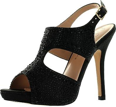 9e2e96acfc1 DeBlossom Womens Yael-71 Stunning Glitzy Party Heels Sandals