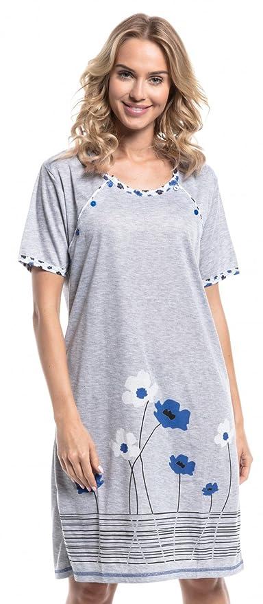 Para Mujer Camisón flores premamá de embarazo y lactancia. 211p: Amazon.es: Ropa y accesorios