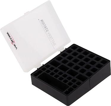 Praktischer Kunststoff Translucent Case Holder Speicher für AA AAA Batterie QHO