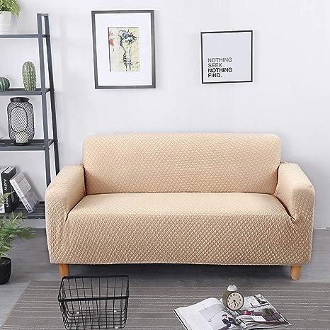 Doubl Funda de sofá elástica, Antiarrugas Anti Arrugas Fibra ...