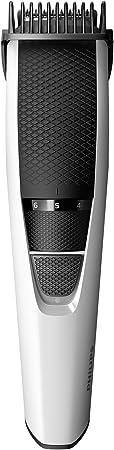 Philips BT3206/14 Barbero  Recortadora de Barba y Pelo,  funda de viaje, sistema Lift & Trim, 10 posiciones, Blanco