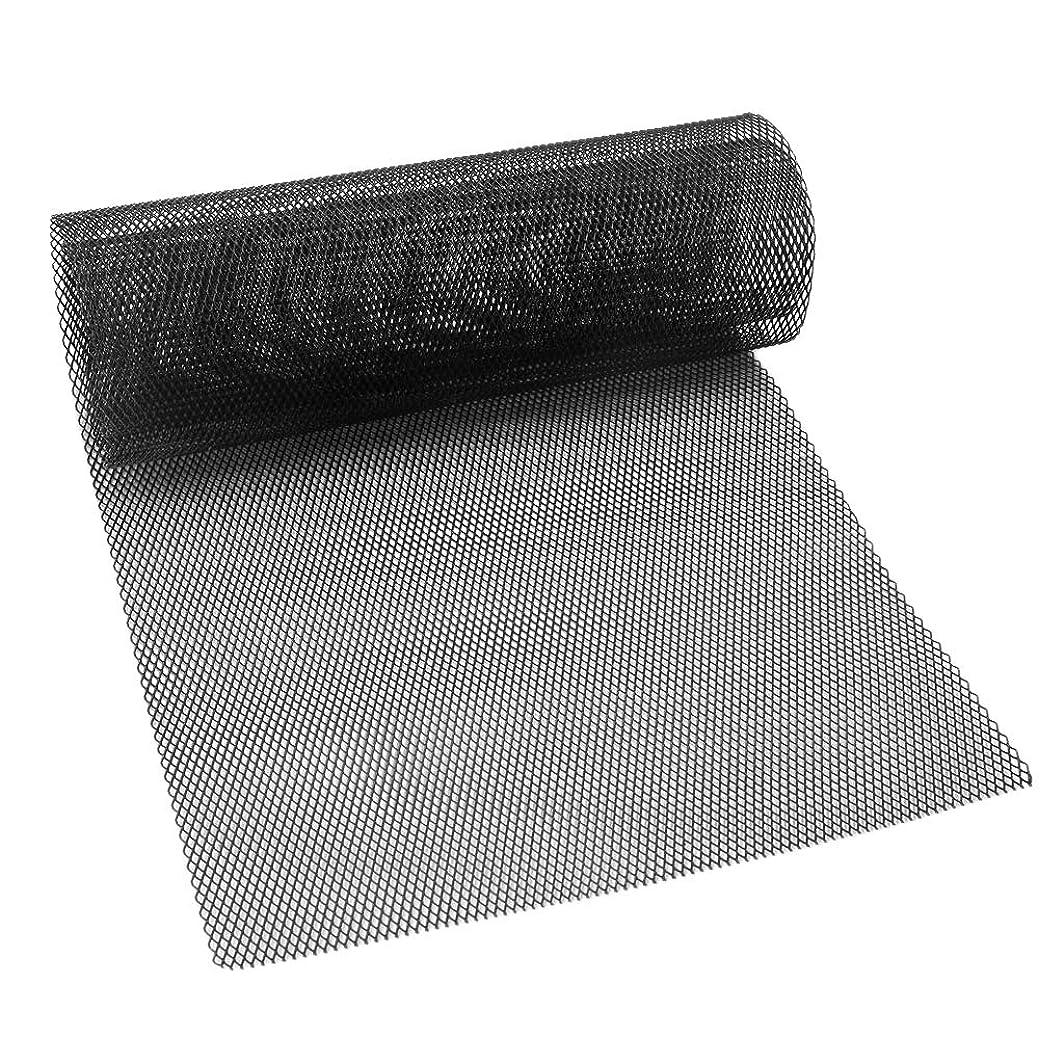 実際のエンディング香りアルミ製メッシュネット1M×33cm黒/グリル加工/エアロ/網タイプ2